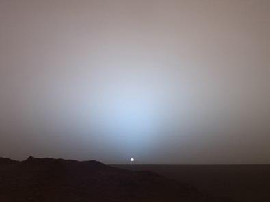 Anochecer en Marte...